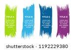 vector brush infographic... | Shutterstock .eps vector #1192229380