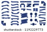 set of beautiful colored blue... | Shutterstock . vector #1192229773