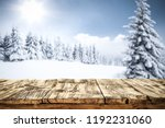 table background and winter... | Shutterstock . vector #1192231060