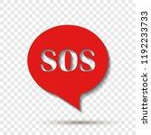 sos pin marker on transparent... | Shutterstock .eps vector #1192233733