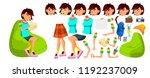 asian teen girl vector.... | Shutterstock .eps vector #1192237009