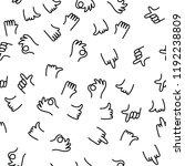 hand drawing pattern finger... | Shutterstock .eps vector #1192238809