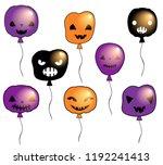 funny halloween vector set with ...   Shutterstock .eps vector #1192241413