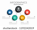 infographic design template... | Shutterstock .eps vector #1192242019