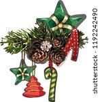 vector christmas fir tree... | Shutterstock .eps vector #1192242490