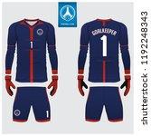 goalkeeper jersey or soccer kit ... | Shutterstock .eps vector #1192248343