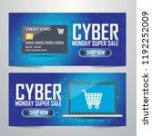 cyber monday deals design ... | Shutterstock .eps vector #1192252009