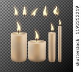 realistic candle flame isolated ... | Shutterstock .eps vector #1192252219