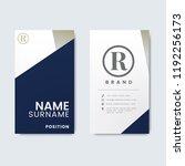 minimal modern business card... | Shutterstock .eps vector #1192256173