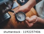 top view of professional... | Shutterstock . vector #1192257406