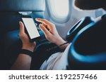 closeup of young businessman... | Shutterstock . vector #1192257466