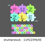 vector of modern bold font and... | Shutterstock .eps vector #1192259650