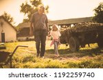 weekend on village. grandfather ... | Shutterstock . vector #1192259740