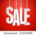 sale background. vector. | Shutterstock .eps vector #119225980