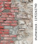 old brick wall. abstract... | Shutterstock . vector #1192262740