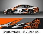 car wrap design vector. graphic ... | Shutterstock .eps vector #1192264423