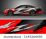 car wrap design vector. graphic ... | Shutterstock .eps vector #1192264450