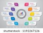 10 steps presentation chart.... | Shutterstock .eps vector #1192267126