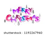 colorful merry christmas brush... | Shutterstock .eps vector #1192267960