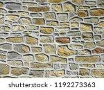 beautiful stony wall.... | Shutterstock . vector #1192273363