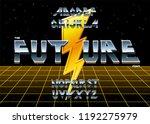 alphabet 80's retro font.vector ... | Shutterstock .eps vector #1192275979