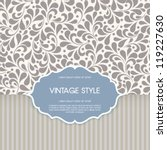 vector vintage card with floral ... | Shutterstock .eps vector #119227630