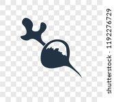 radish vector icon isolated on... | Shutterstock .eps vector #1192276729