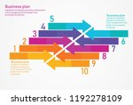 infographic design template... | Shutterstock .eps vector #1192278109