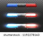 vector 3d realistic red and... | Shutterstock .eps vector #1192278163