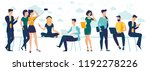 flat design  web page template... | Shutterstock .eps vector #1192278226