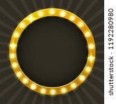 round frame with glowing shiny... | Shutterstock .eps vector #1192280980