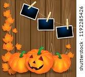 halloween illustration with... | Shutterstock .eps vector #1192285426