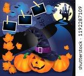 halloween background with... | Shutterstock .eps vector #1192287109