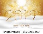 vector happy new year 2019  ...   Shutterstock .eps vector #1192287550