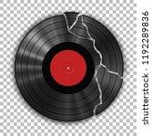 gramophone broken vinyl lp... | Shutterstock .eps vector #1192289836