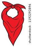 red bandana vector illustration | Shutterstock .eps vector #1192292896