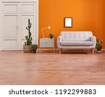 orange living room and orange... | Shutterstock . vector #1192299883