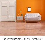 orange living room and orange... | Shutterstock . vector #1192299889