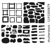 collection of brush shapes.... | Shutterstock .eps vector #1192300879