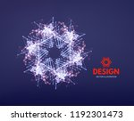 snowflakes. 3d connection... | Shutterstock .eps vector #1192301473