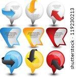 web pointers | Shutterstock .eps vector #119230213