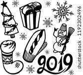 christmas   new year set....   Shutterstock .eps vector #1192302496