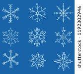 vector set of white sketch... | Shutterstock .eps vector #1192302946