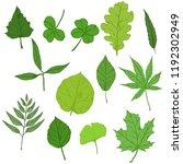 vector set of cartoon green... | Shutterstock .eps vector #1192302949