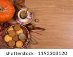 fall concept with pumpkin and a ...   Shutterstock . vector #1192303120