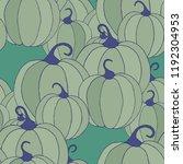 halloween background with... | Shutterstock .eps vector #1192304953