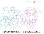 hexagonal abstract background.... | Shutterstock .eps vector #1192306213