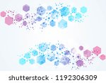 hexagonal abstract background.... | Shutterstock .eps vector #1192306309