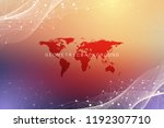 geometric graphic background... | Shutterstock .eps vector #1192307710