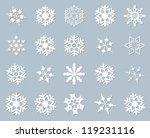 snowflake winter set vector...